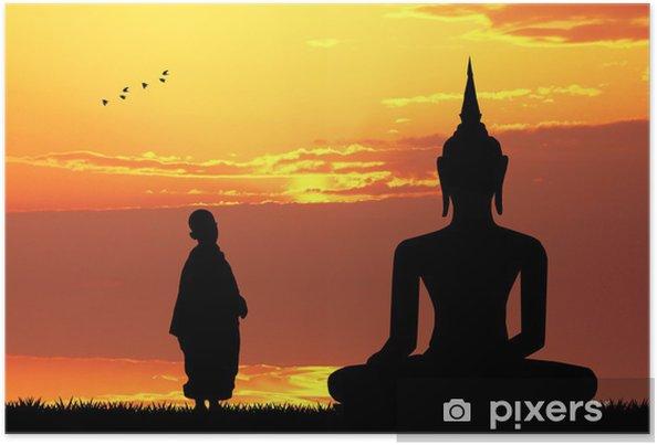 Plakat Buddha o zachodzie słońca - Tematy