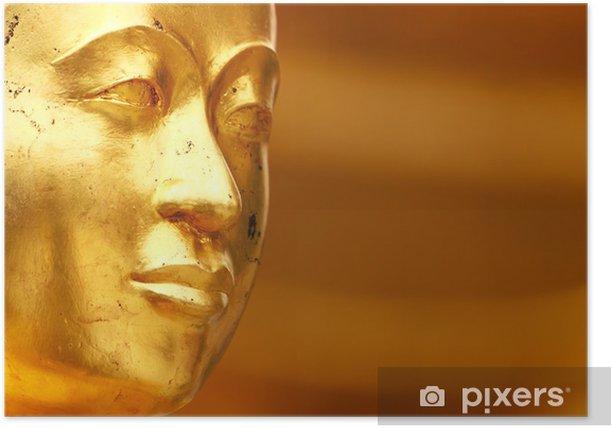 Plakát Buddha zlatá socha close-up - Témata