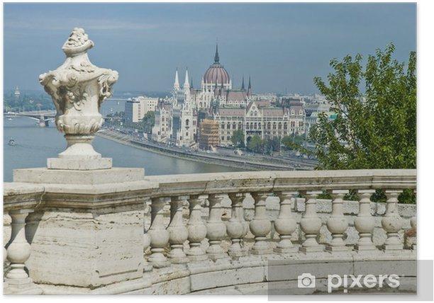 Plakat Budynek Parlamentu w Budapeszcie, Węgry - Europa