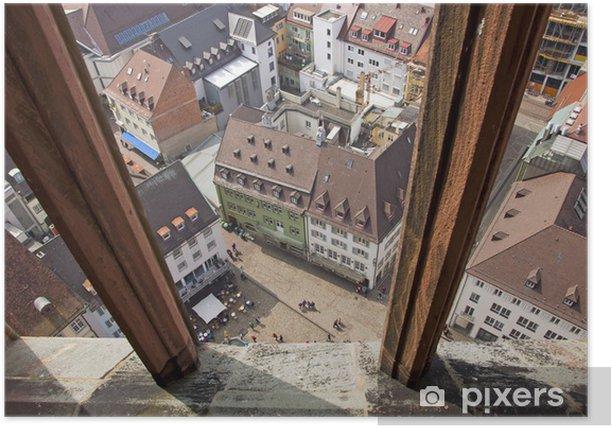 Plakat Budynków w mieście Freiburg, Niemcy - Pejzaż miejski