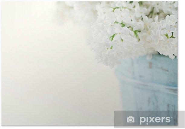 Plakat Bukiet kwiatów białego bzu wiosną - Style