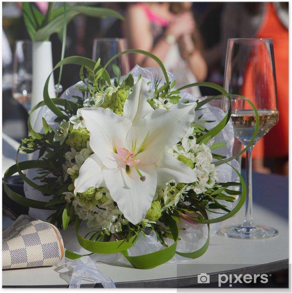 Plakat Bukiet ślubny z lilii - Świętowanie