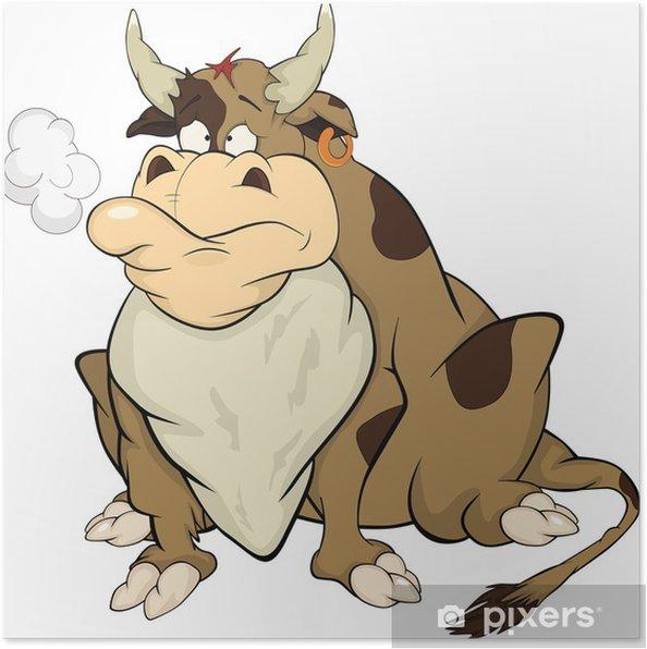 Plakat Bull. Rysunek - Ssaki