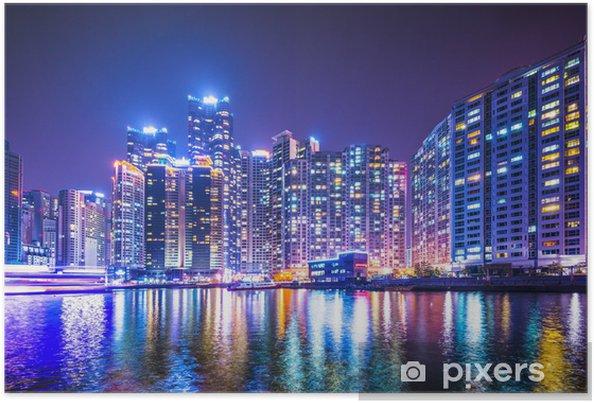 Plakat Busan, Korea Południowa Haeundae Rejonowy Miasta - Azja