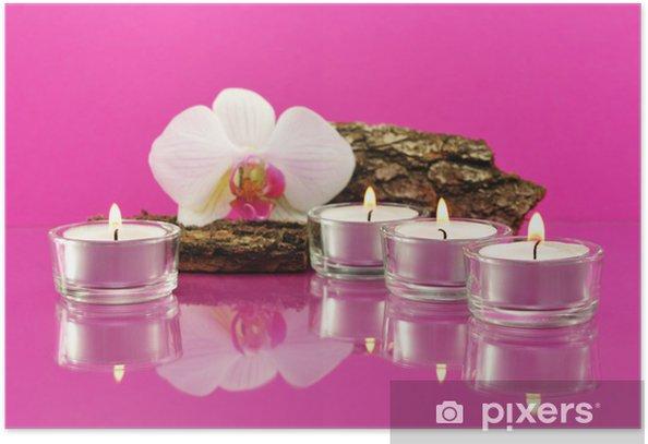 Plakát Čajové svíčky - Životní styl, péče o tělo a krása