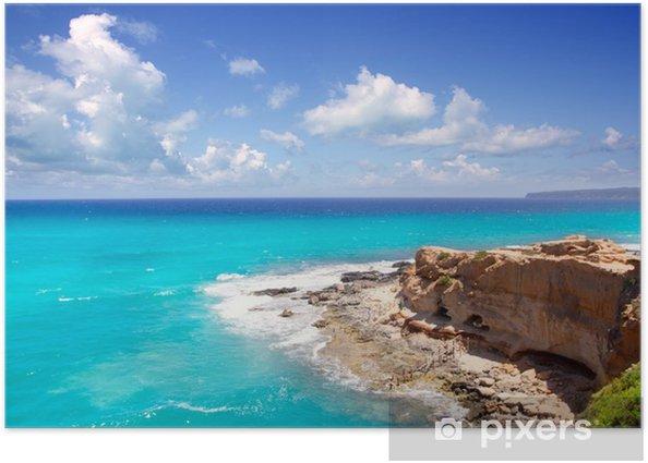 Plakát Cala en Baster v Formentera horách - Evropa