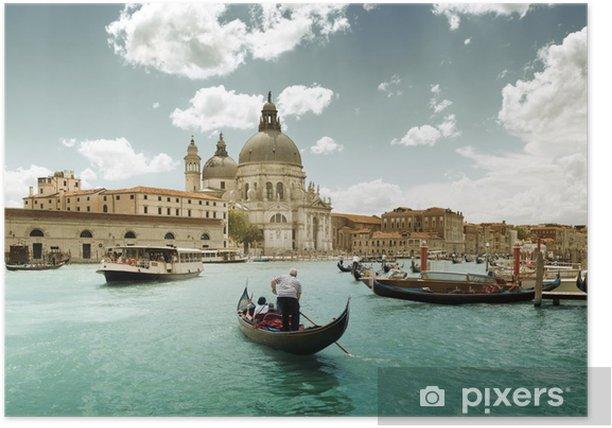 Plakat Canal Grande i Bazylika Santa Maria zdrowia, Wenecja, Włochy - Tematy