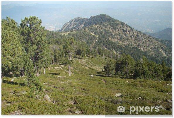 Plakat Canigou masywu, Pireneje Wschodnie - Góry