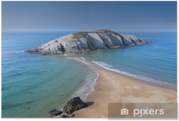 Plakat Cantabrian plaża - Wakacje