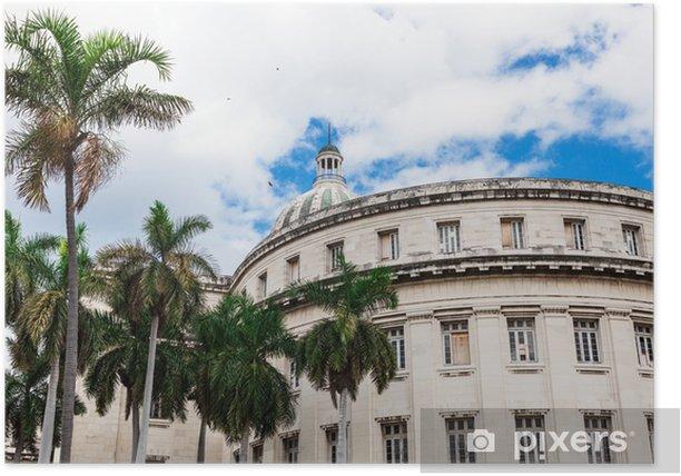 Plakat Capitol w Hawanie - Zabytki