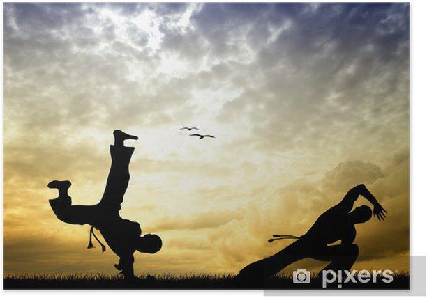 Plakát Capoeira silueta při západu slunce - Témata