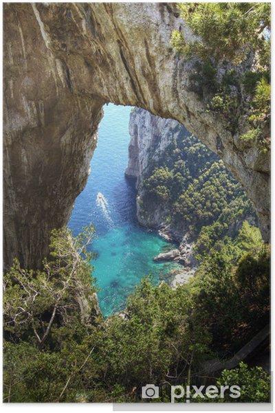 Plakát Capri, přírodní oblouk - Prázdniny