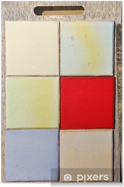 Plakát Carrelage Céramique provence coloré - fond et textury - Obchody