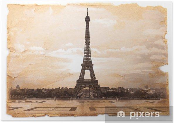 Plakát Cartolina retro della Tour dal Trocadero - Témata