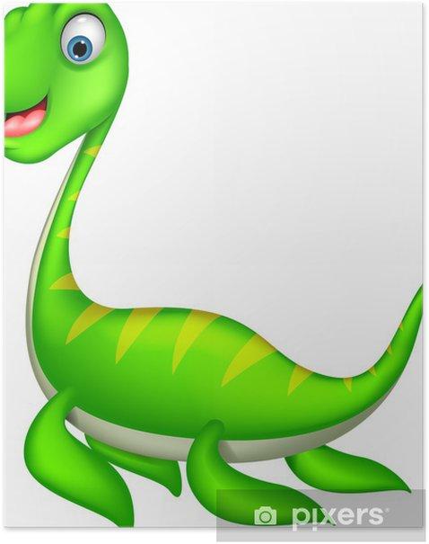 Plakát Cartoon dinosaur vektor - Ostatní Ostatní