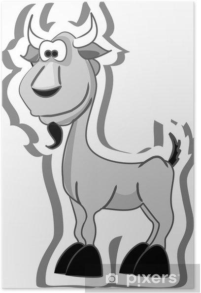 Plakát Cartoon kozy - Savci