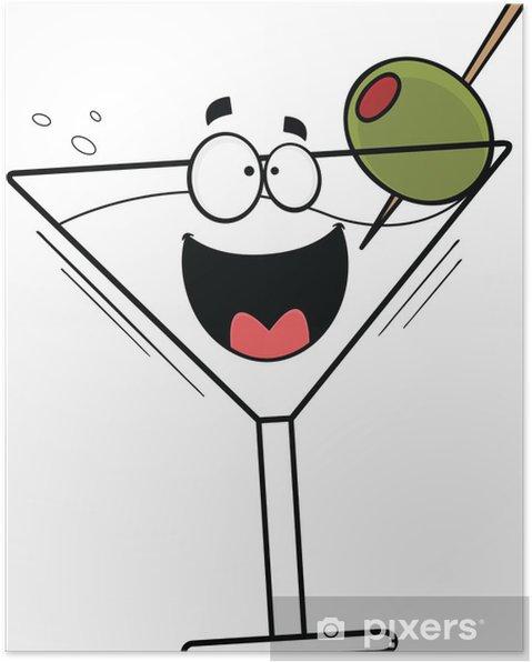 Plakát Cartoon Šťastný Martini - Alkohol