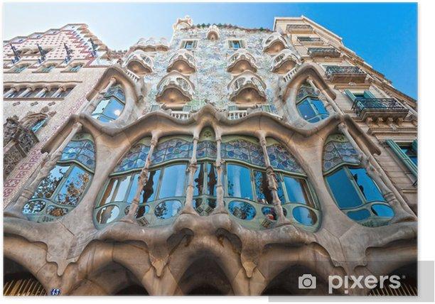 Plakat Casa Batlló, Barcelona, Hiszpania - Miasta europejskie