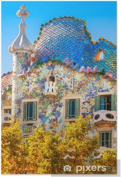 Plakat Casa Batlló, Barcelona, Hiszpania - Tematy