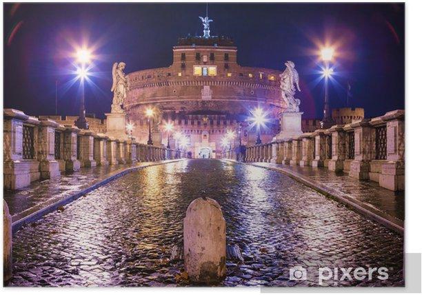 Plakat Castel Sant'Angelo di Notte - Miasta europejskie