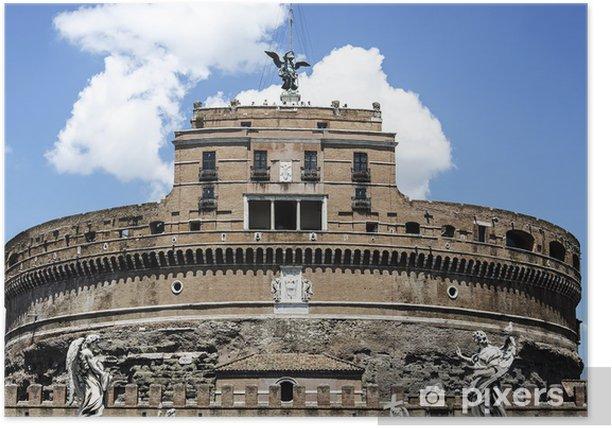 Plakat Castel Sant'Angelo, Rzym - Budynki użyteczności publicznej