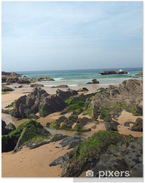 Plakat Castelejo Beach, w pobliżu Vila do Bispo, Algarve, Portugalia - Woda