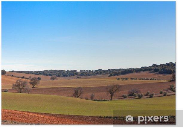 Plakát Castilla-La Mancha, Španělsko v zimě - Roční období