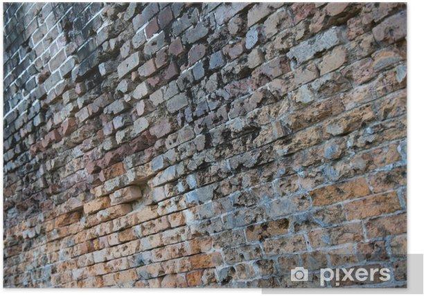 Plakat Ceglana ściana - Życie