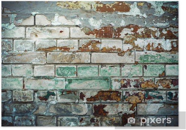 Plakat Ceglana ściana - Tekstury