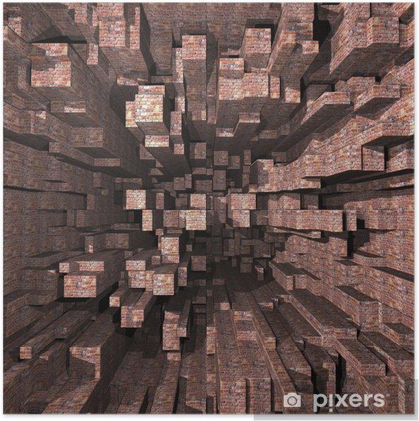 Plakat Cegły - Tła