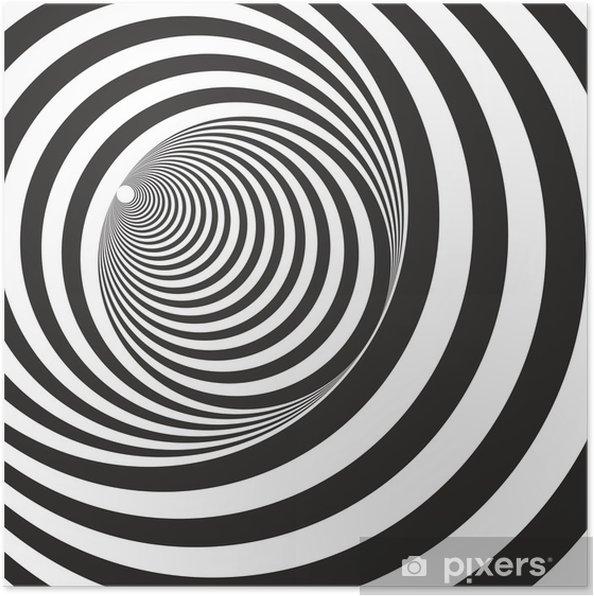 Populære Plakát Černá a bílá reliéf tunel. Optický klam • Pixers® • Žijeme II-96