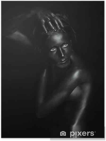 Plakát Černá socha s pronikavýma očima - Témata