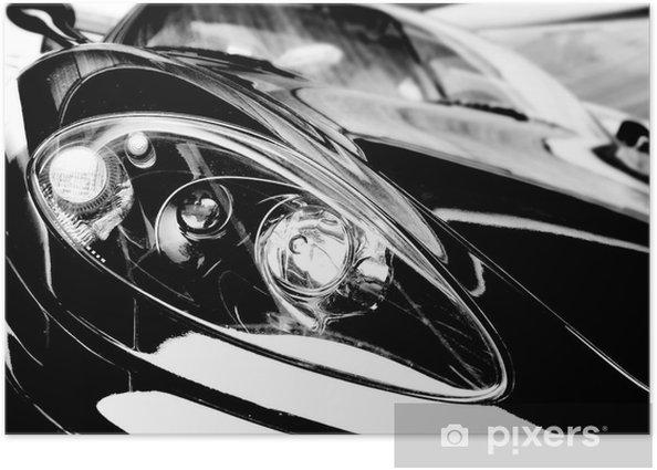 Plakát Černá sportovní vůz - Osud