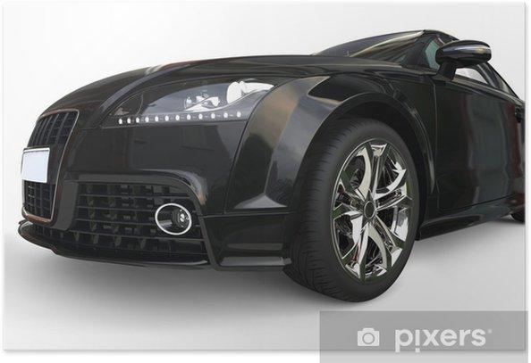 Plakát Černé auto reflektor extrémní zblízka - Na cestě