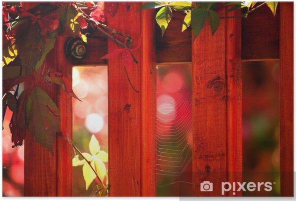 Plakát Červená zahrada - Rostliny