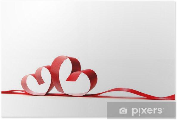 Plakát Červené srdce stuhy - Mezinárodní svátky