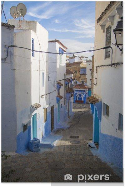 Plakát Chefchaouen, Maroko - Afrika