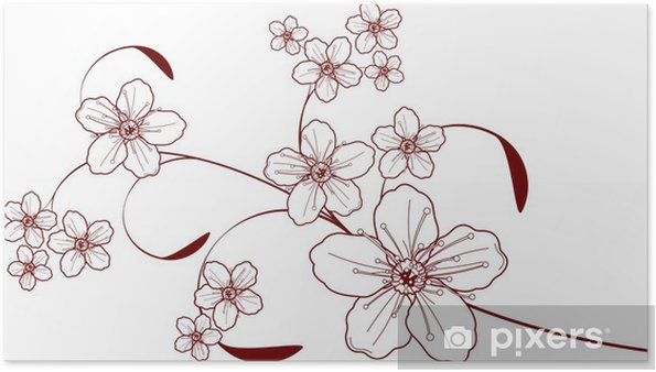 Plakat Cherry blossom projekt - Kwiaty