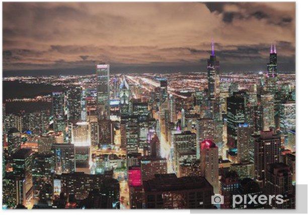 Plakát Chicago městské panorama panorama - Amerika