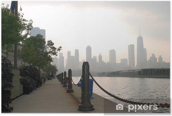 Plakát Chicago - Navy Pier pohled - Amerika