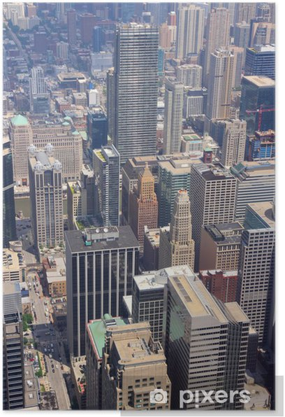 Plakat Chicago, USA - Pejzaż miejski
