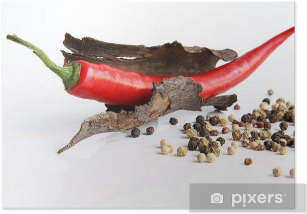 Plakat Chili z pfeffer1 - Przyprawy i zioła