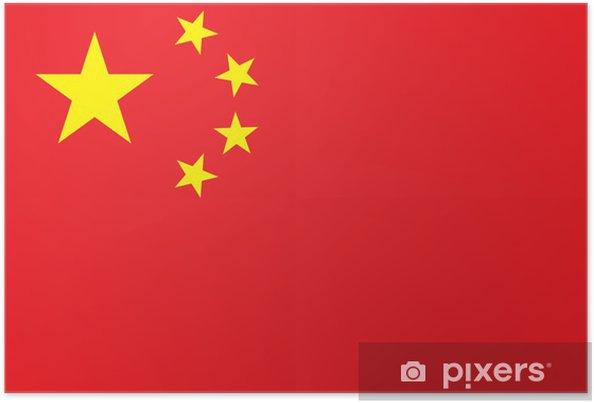 Plakat China Flag High Resolution - Tematy