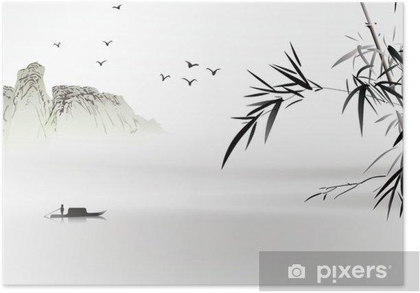 Plakat Chińskich malowanie - Natura