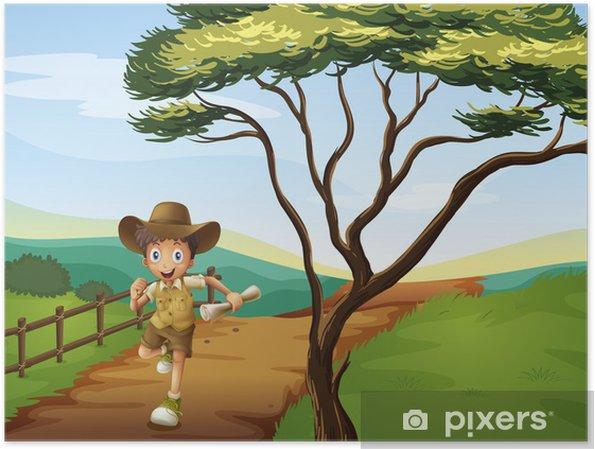 Plakat Chłopiec biegający - Rozrywka