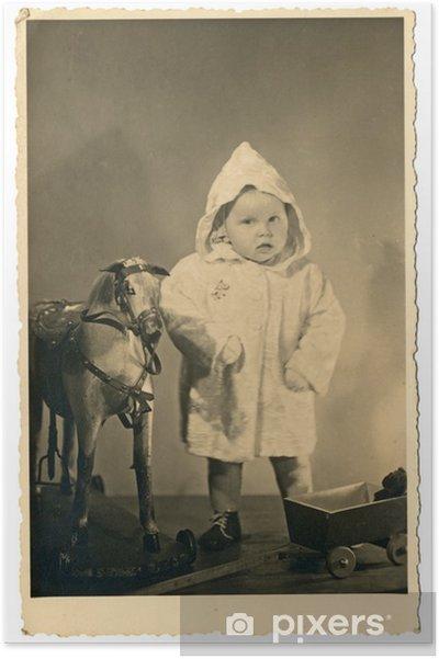Plakat Chłopiec i zabawki - Czechosłowacja - 1950 - Dzieci