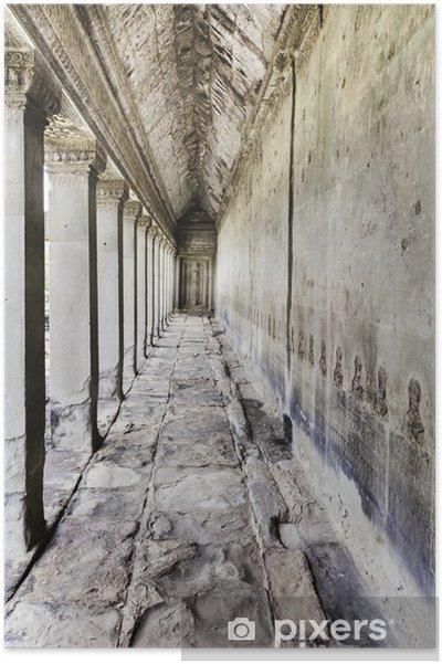 Plakát Chodba Angkor Vat - Památky