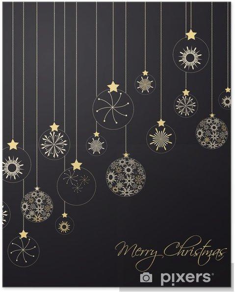 Plakát Christmas background - Mezinárodní svátky