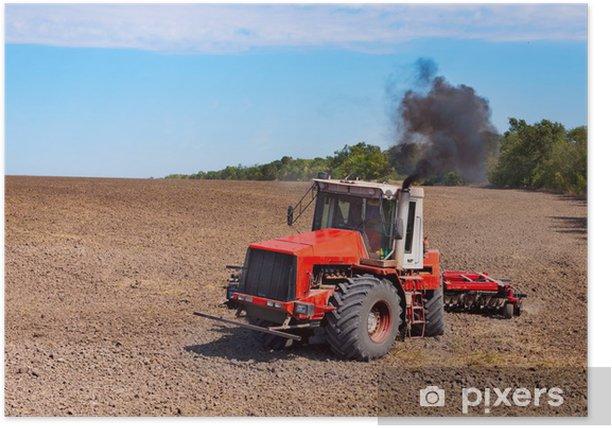 Plakat Ciągnik - Rolnictwo