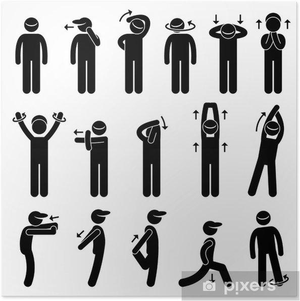 Plakat Ciało ćwiczenia rozciągające - Sporty indywidualne